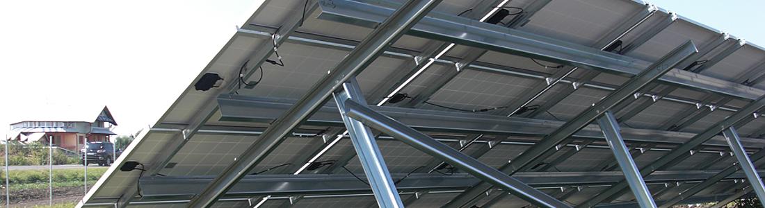 Structuri zincate panouri fotovoltaice